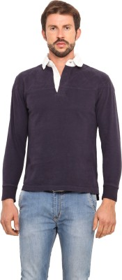 Smokestack Solid Men's Polo Neck T-Shirt