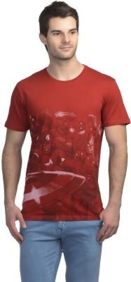 Marvel Avengers Printed Men's Round Neck Red T-Shirt