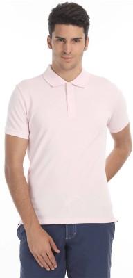 Zobello Solid Men's Polo Neck Pink T-Shirt