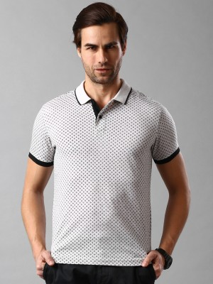 Invictus Printed Men's Polo Neck White T-Shirt