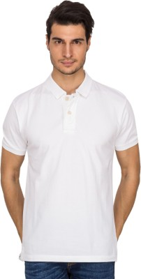 Xplore Solid Men's Polo White T-Shirt