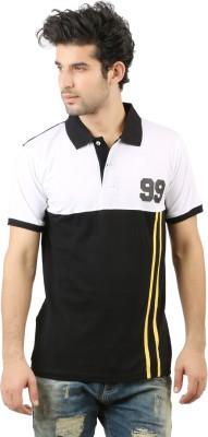 Hotfits Solid Men's Polo Neck Black T-Shirt