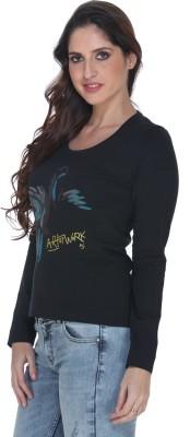 Fast n Fashion Graphic Print Women's Round Neck Green T-Shirt