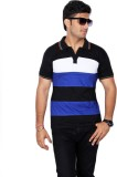 Drakeman Striped Men's Polo Neck Multico...