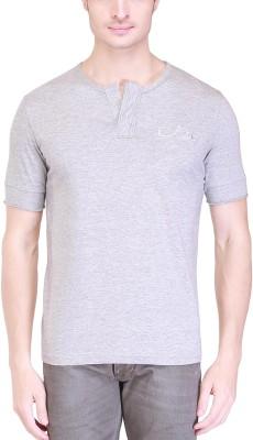 Clst Solid Men's Henley Grey T-Shirt