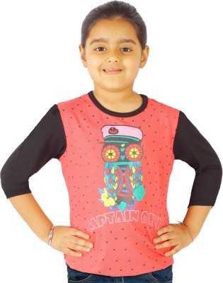 Naughty Ninos Animal Print Girl's Round Neck T-Shirt