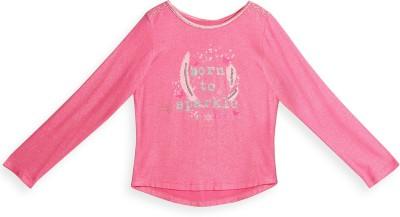 Barbie Graphic Print Girl's Round Neck Pink T-Shirt