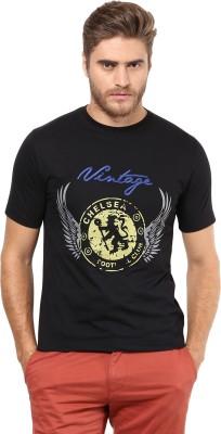 FUNK Printed Men's Round Neck Black T-Shirt