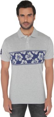 Greenfibre Printed Men's Polo Grey T-Shirt