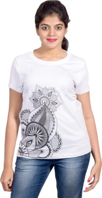 Rang Chakri Printed Women's Round Neck T-Shirt