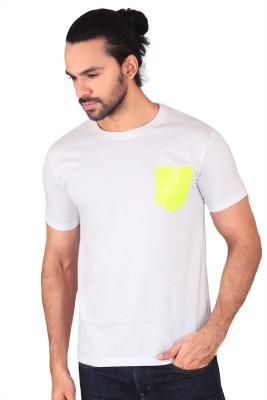 Anger Beast Printed Men's Round Neck White T-Shirt