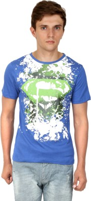 Scorpio Fashion Printed Men's Round Neck Blue T-Shirt