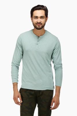 Global Nomad Solid Men's Henley Light Green T-Shirt