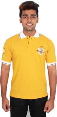 Moxi Printed Men's Polo Neck Beige T-Shirt