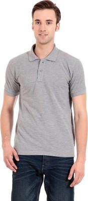 Zeug Solid Men's Polo Neck Grey T-Shirt