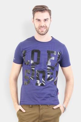 Crocodile Printed Men's Round Neck Multicolor T-Shirt