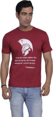 Sandbox Printed Men's Round Neck Reversible Red T-Shirt