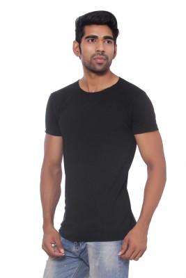 Pezzava Self Design Men's Round Neck Reversible Black, Grey T-Shirt