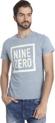 Jack & Jones Printed Men's Round Neck Blue T-Shirt