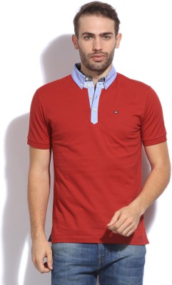 Arrow Sport Solid Men's Polo Red T-shirt