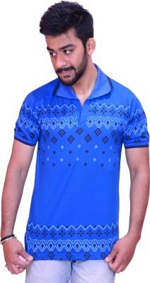Inez Printed Men's Blue T-Shirt