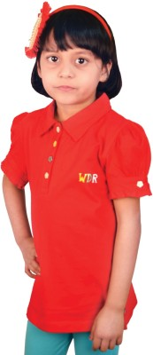 TSG Breeze Solid Baby Girl's Polo Red T-Shirt