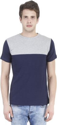 Bonzer Fashion Solid Men's Round Neck Light Blue, Grey T-Shirt