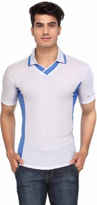Rico Sordi Solid Men's Polo Neck White T-Shirt