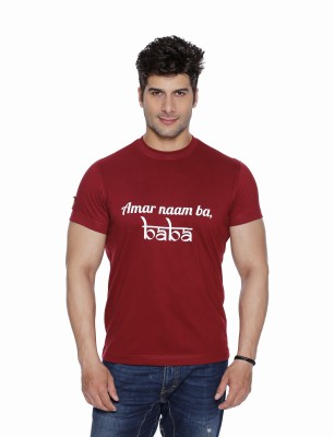 Daddy's Capes Printed Men's Round Neck Red T-Shirt