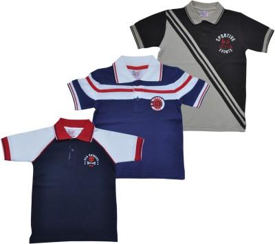 BG Casuals Solid Boy's Polo Neck Multicolor T-Shirt