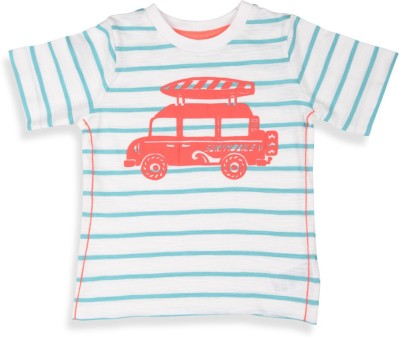 Mothercare Striped Round Neck White T-Shirt
