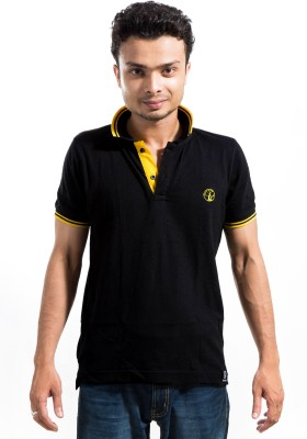 Labscraft Solid Men's Polo Neck T-Shirt