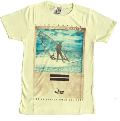 Victor & Rolf Graphic Print Men's Round Neck Yellow T-Shirt