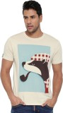 Cult Fiction Printed Men's Round Neck Be...