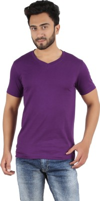 Yex Solid Men's V-neck T-Shirt