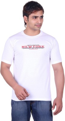Martin Smith Printed Men's Round Neck White T-Shirt
