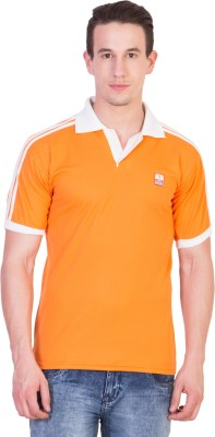 Ruby Wears Solid Men's Polo Orange T-Shirt