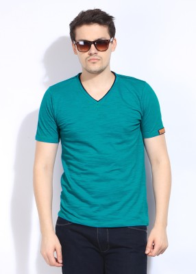 Chromozome Solid Men's V-neck T-Shirt