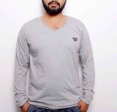 OCTAVE Solid Men's V-neck T-Shirt