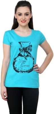 ESPRESSO Printed Women's Round Neck Light Green T-Shirt