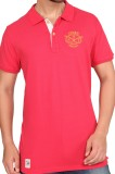 Stoke Solid Men's Polo Neck Red T-Shirt