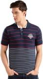 Harvard Striped Men's Polo Neck Dark Blu...