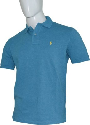 Ralph Lauren Solid Men's Flap Collar Neck T-Shirt