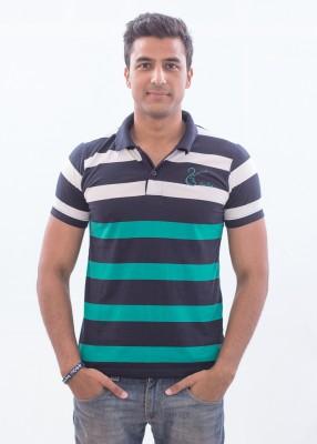 Punjabi Heritage Striped Men,s Polo Multicolor T-Shirt