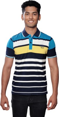 Vibgyor Striped Men's Polo Multicolor T-Shirt