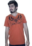 Khaiber Embroidered Men's V-neck Orange ...