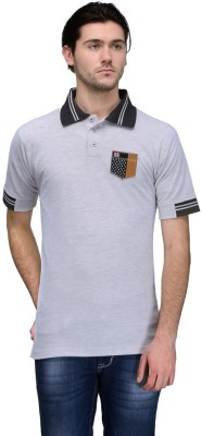 Canary London Solid Men's Polo Grey T-Shirt