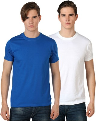 River Nation Solid Men's Round Neck Multicolor T-Shirt