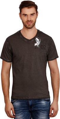 Volume Zero Printed Men's V-neck Grey T-Shirt