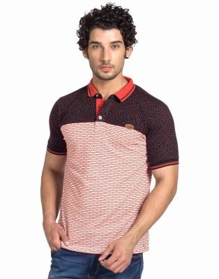 Klub Fox Checkered Men's Polo Neck Red T-Shirt